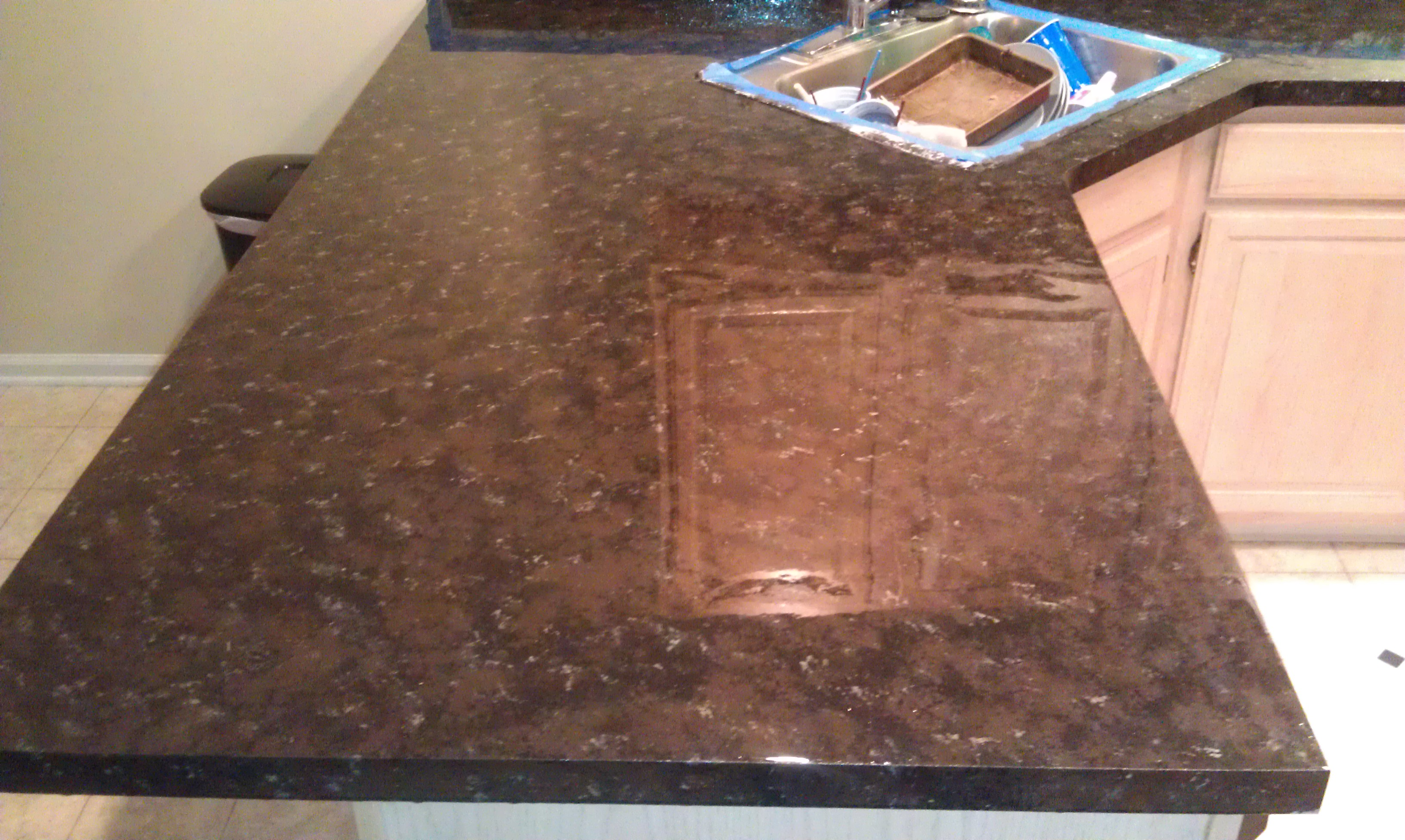 Paint Countertop Faux Marble : Faux Granite Countertops Revlon Renovations